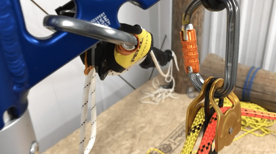 tension guying systems on an SA Frame two rope offset